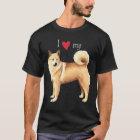 I Liebe mein norwegisches Buhund T-Shirt
