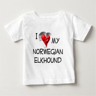 I Liebe mein norwegisches Elkhound Baby T-shirt