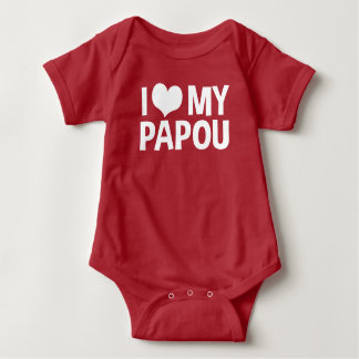 I Liebe mein Papou Baby Strampler