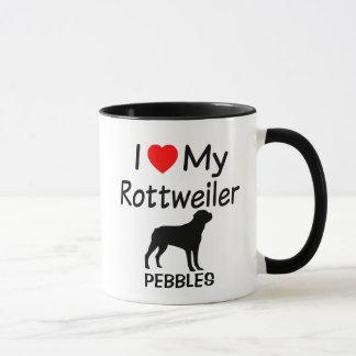 I Liebe mein Rottweiler Hund Tasse