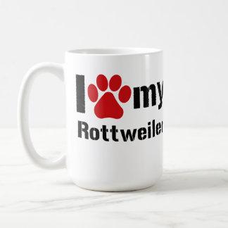 I Liebe mein Rottweiler Kaffeetasse
