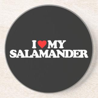 I LIEBE MEIN SALAMANDER SANDSTEIN UNTERSETZER