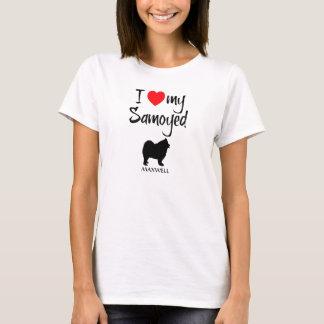 I Liebe mein Samoyed-Hund T-Shirt