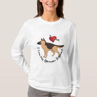I Liebe mein Schäferhund-Hund T-Shirt