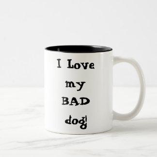 I Liebe mein SCHLECHTER Hund! Tee Tassen