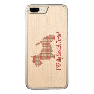 I Liebe mein schottischer Terrier mit Carved iPhone 8 Plus/7 Plus Hülle