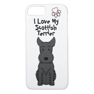 I Liebe mein schottischer Terrier-Telefon-Kasten iPhone 8/7 Hülle
