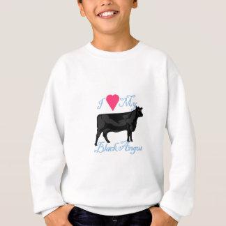 I Liebe mein schwarzes Angus Sweatshirt