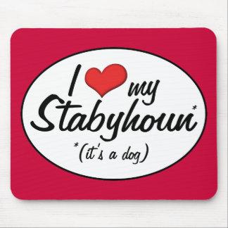 I Liebe mein Stabyhoun (es ist ein Hund) Mauspads
