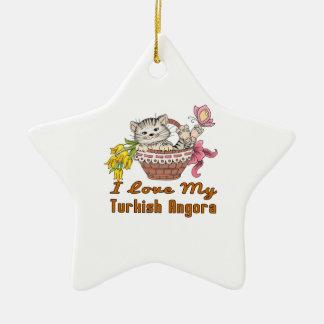 I Liebe mein türkisches Angora Keramik Stern-Ornament