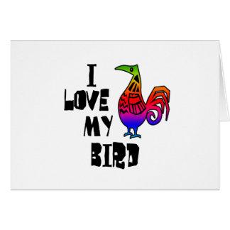 I Liebe mein Vogel Karte