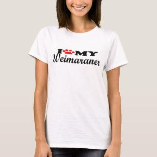 I Liebe mein Weimaraner T-Shirt