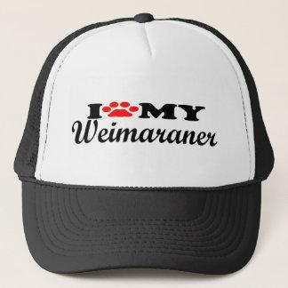 I Liebe mein Weimaraner Truckerkappe