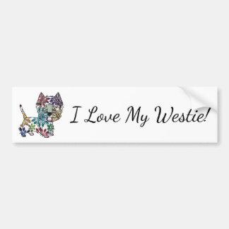 I Liebe mein Westie - Autoaufkleber