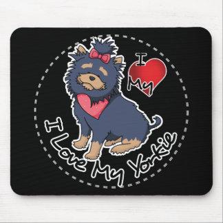 I Liebe mein Yorkie Hund Mauspads