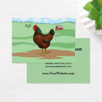I Liebe meine Barnevelder Hühner Visitenkarte