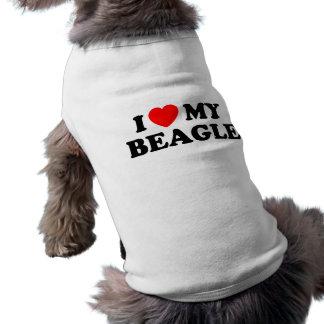I Liebe meine Beagle-Hündchen-gewellte Behälter-Sp Ärmelfreies Hunde-Shirt
