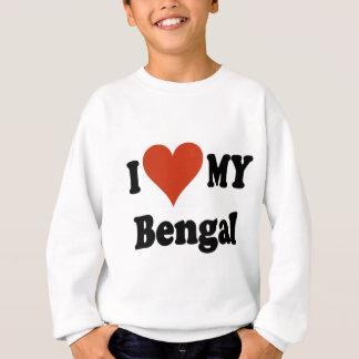 I Liebe meine bengalischen Katzen-Geschenke und Sweatshirt
