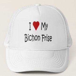 I Liebe meine Bichon Frise Truckerkappe