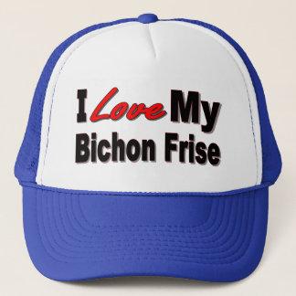 I Liebe meine Bichon Frise Waren Truckerkappe