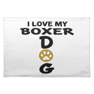 I Liebe meine Boxer-Hundeentwürfe Tischset