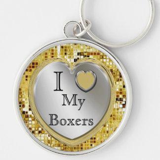 I Liebe meine Boxer oder? Herz Keychain Schlüsselanhänger