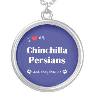 I Liebe meine Chinchilla-Perser (mehrfache Katzen) Versilberte Kette