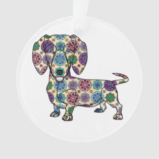 I Liebe meine Dackel - Kreis-Verzierung Ornament