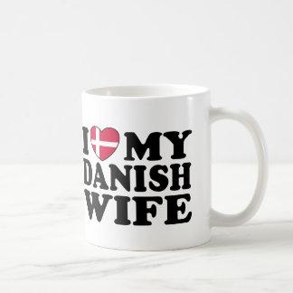 I Liebe meine dänische Ehefrau Kaffeetasse