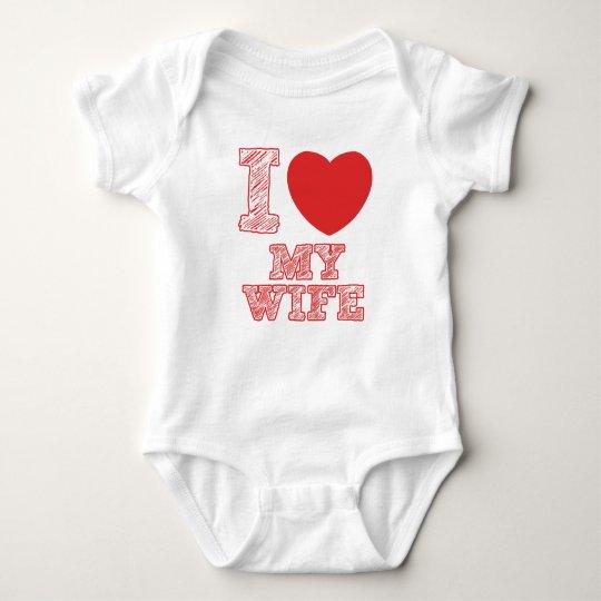 I Liebe meine Ehefrau Baby Strampler