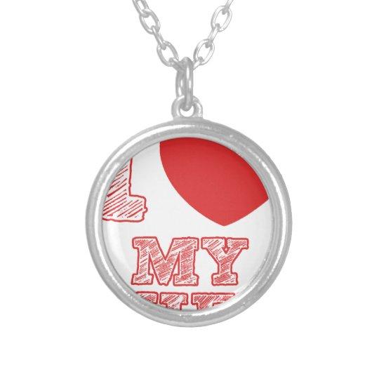 I Liebe meine Ehefrau Halskette Mit Rundem Anhänger