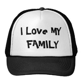 I Liebe MEINE FAMILIE Netzkappe