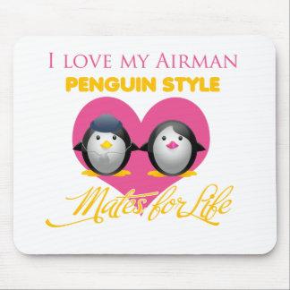 I Liebe meine Fliegerpenguin-Art Mousepads