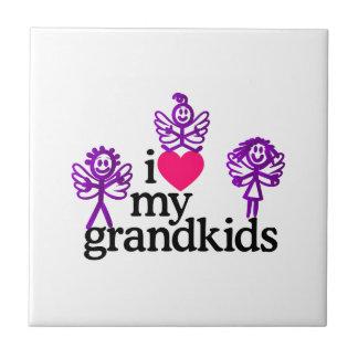 I Liebe meine Grandkids Fliese