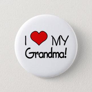 I Liebe meine Großmutter! Runder Button 5,1 Cm