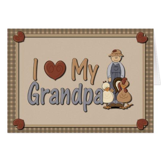 I Liebe meine Gruß-Karte des Großvater-(Bauer) Grußkarte