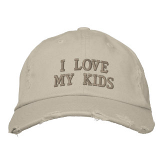 I Liebe meine Kinder Bestickte Mütze