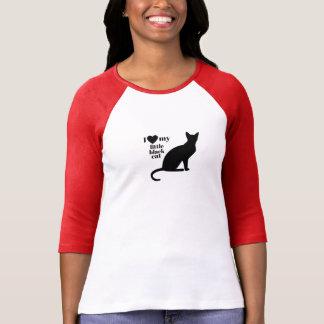 I Liebe meine kleine schwarze Katze T-Shirt