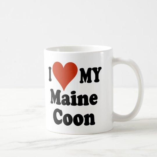 I Liebe meine Maine-Waschbär-Katzen-Waren Tasse