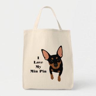 I Liebe meine minimale Button-HundeTasche Tragetasche
