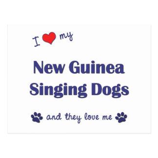 I Liebe meine Neu-Guinea Gesang-Hunde (mehrfache Postkarte