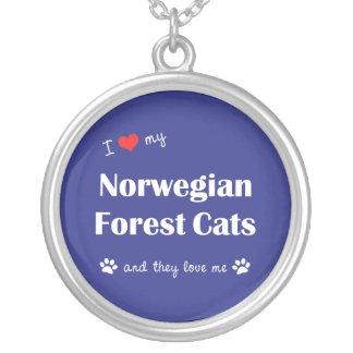 I Liebe meine norwegischen Waldkatzen (mehrfache Versilberte Kette