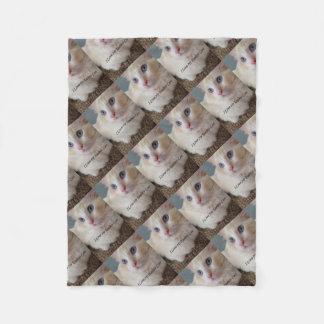 I Liebe meine Ragdoll Katze Fleecedecke