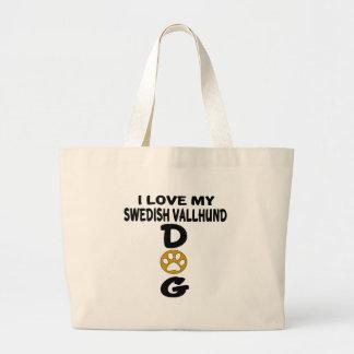 I Liebe meine Schwede Vallhund Hundeentwürfe Jumbo Stoffbeutel