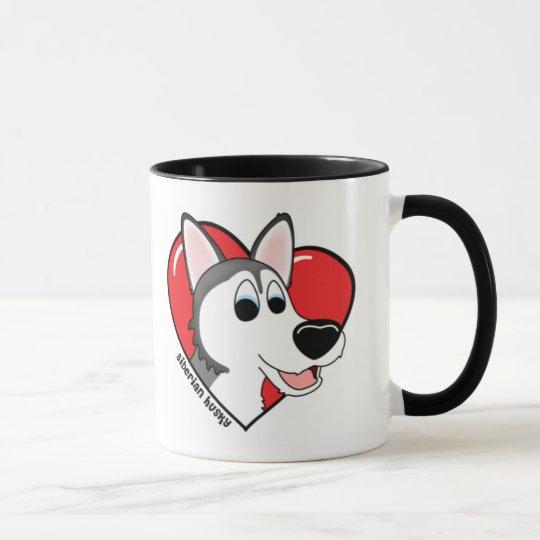 I Liebe meine sibirischer Schlittenhund-Tasse Tasse