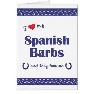 I Liebe meine spanischen Widerhaken (mehrfache Karte