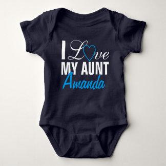 I Liebe meine Tante-D Tante Name. Nach Maß Baby Strampler