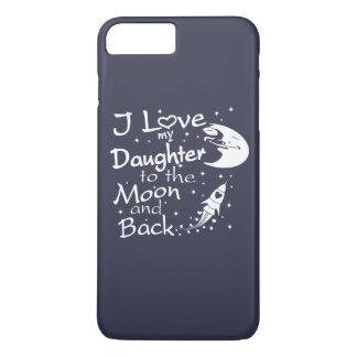 I Liebe meine Tochter zum Mond und zur Rückseite iPhone 8 Plus/7 Plus Hülle