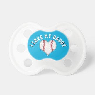 I Liebe meine Vati-Baseball-Schnuller in Ihren Schnuller