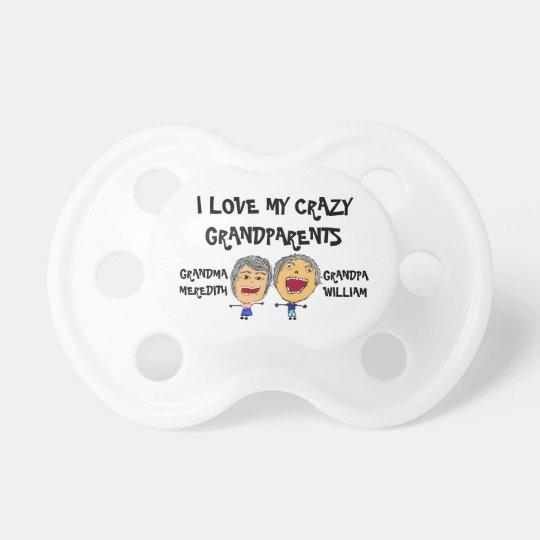 I Liebe meine verrückten Großeltern Schnuller